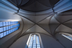 Ceiling coving in the Gothic style. St. Mary's Church (Marienkirche) at Alexanderplatz Stock Photo