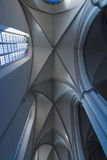Ceiling coving in the Gothic style. St. Mary's Church (Marienkirche) at Alexanderplatz Stock Images