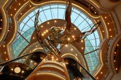 Ceiling of Cruiseship. Luxury Ceiling, Cruise ship interior Royalty Free Stock Photo