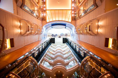 Ceiling of Cruiseship Stock Images