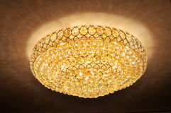 Ceiling crystal lamp Stock Images