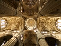 Ceiling cupola indoors at Salamanca cathedral Royalty Free Stock Images