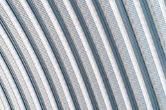The ceiling with the curve metal sheet block line design royalty free stock photo