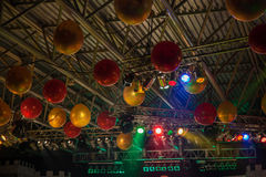 Ceiling decorated with balloons Stock Photo