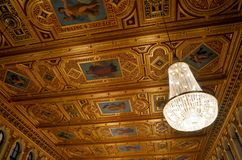 Ceiling decorated with paintings Royalty Free Stock Photos