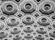 Ceiling decoration. Ancient ceiling decoration in Rome, Italy stock images