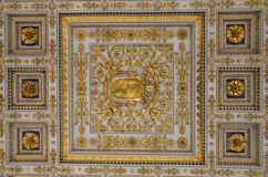 Ceiling decoration at Basilica Papale San Paolo fuori le Mura Stock Photo