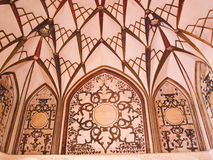Ceiling decoration interior of historic old house in Kashan, Ira Royalty Free Stock Photos