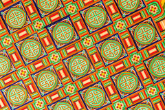 Ceiling decoration in Korean traditional architecture Royalty Free Stock Images