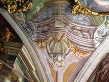 Ceiling decoration in Palazzo della Ragione Stock Photos
