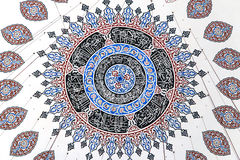 Ceiling decoration of Sehzade Mosque Stock Images