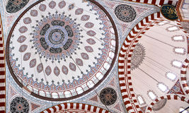 Ceiling decoration of of Sehzade Mosque in Istanbul, Turkey Stock Photo