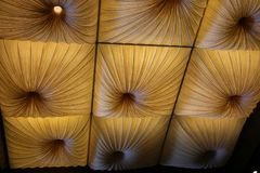 Ceiling with decorative folds Stock Photos