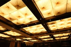 Ceiling with decorative folds Royalty Free Stock Photo