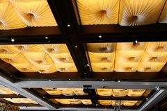 Ceiling with decorative folds Stock Image