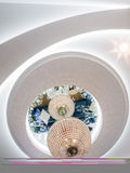 Ceiling design. Apartment ceiling design and decoration Royalty Free Stock Photography