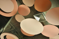 Ceiling design decorates and covers ventilation system Stock Photography