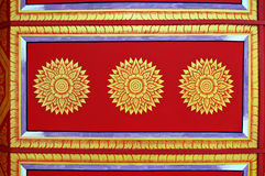 Ceiling detail. Detail of Thai temple ceiling Stock Photo