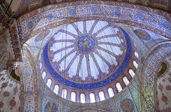 Ceiling detail in the Blue Mosque in Istanbul, Turkey Royalty Free Stock Photos