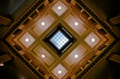 Ceiling detail in historic train station Royalty Free Stock Images