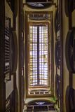 Ceiling detail in Old Havana building interior with typical colo Royalty Free Stock Images