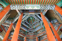 Ceiling detail in pagoda at the Summer Palace Stock Photo