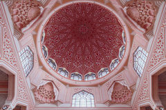 The ceiling detail of Putra Mosque in Wilayah Persekutuan Putrajaya, Malaysia Stock Image