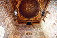 Ceiling Details of Alcazar, Seville Royalty Free Stock Photo