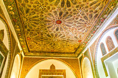Ceiling details of Alcazar, Seville Stock Photography