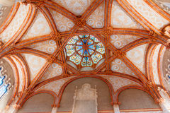 Ceiling details at Hospital de Sant Pau Royalty Free Stock Photography