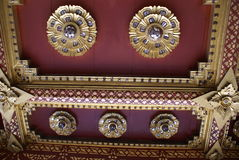 Ceiling details of The Marble Temple in Bangkok, Asia. Royalty Free Stock Photography