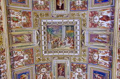 Ceiling details in Vatican Museum Stock Image