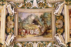 Ceiling details of Vatican museums Stock Photography