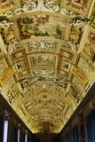 Ceiling details of Vatican museums Stock Image