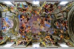 ceiling di ignazio ・ sant的罗耀拉 免版税库存图片