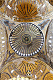 Ceiling and dome of Haghia Sophia in Istanbul, Turkey Royalty Free Stock Photo