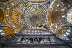 Ceiling and dome of Haghia Sophia, Istanbul, Turkey Royalty Free Stock Photos