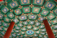Ceiling,Double-circle pavilion Stock Image