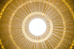 Ceiling in Dubai Mall. Dubai Mall is the largest shopping Mall in the world Stock Images