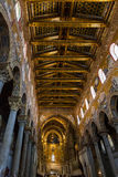 Ceiling of Duomo di Monreale in Sicily Royalty Free Stock Photo