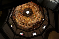 The Ceiling of the Duomo in Florence, Italy. Featuring numerous Royalty Free Stock Photography
