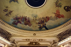 Ceiling of the El Ateneo Bookstore Royalty Free Stock Photos