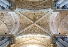 Ceiling of the Erice Cathedral, province of Trapani. Sicily Stock Photos