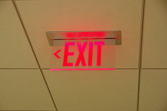 Ceiling Exit Sign Stock Image