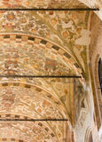 Ceiling of an Exterior Arcade of Palazzo della Ragione in Padua Stock Image