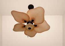 Ceiling Fan. Unique ceiling fan with beige colors Stock Images