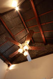 Ceiling fan. Old fashioned ceiling fan with lights royalty free stock image