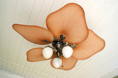 Ceiling Fan. Nice looking ceiling fan on a back porch stock photos
