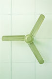 Ceiling fan. Green ceiling fan used for background Royalty Free Stock Photos