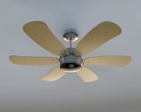 Ceiling fan. Isolated on white background royalty free stock photography